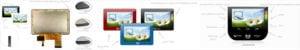 uxTouch TFT mit Coverglas in verschiedenen und individuellen Farben kundenspezifisch mit Touchscreen