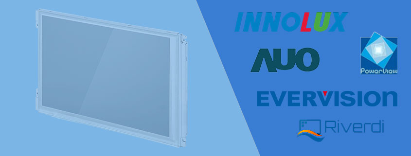 Industrie TFT Displays LCDs AUO Innolux