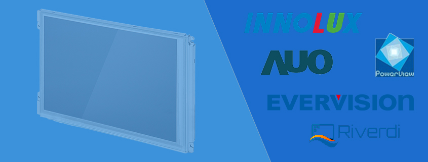 Industrie TFT Displays und Industrial LCD Panels von AUO Innolux ChiMei Evervision