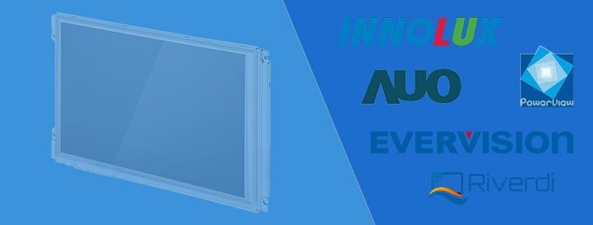Industrie TFT Displays und Industrial LCD Panels von AUO Innolux ChiMei Evervision