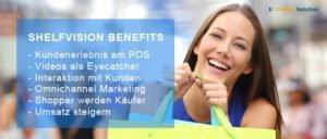 Digitales Kundenerlebnis mit Video Promotion und Werbung am POS Regal