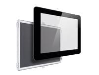 Design Einbaumonitor mit Glas Coverglas printed like Smartphone