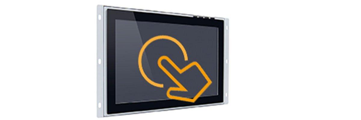 Open Frame Einbaumonitore mit Touchscreen PCAP oder Resistive Funktion