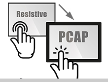 Resistive Touch Upgrade due to a replacement into a PCAP Projected capacitive touch screen